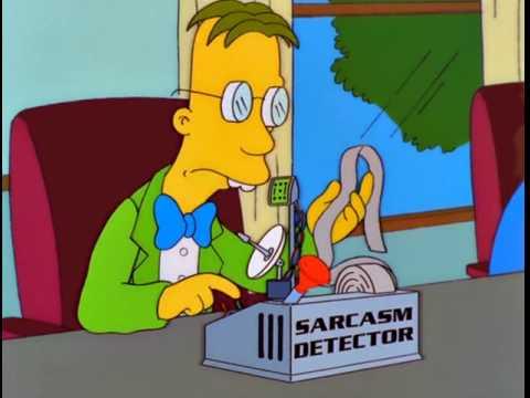Detector de sarcasmo de Los Simpsons